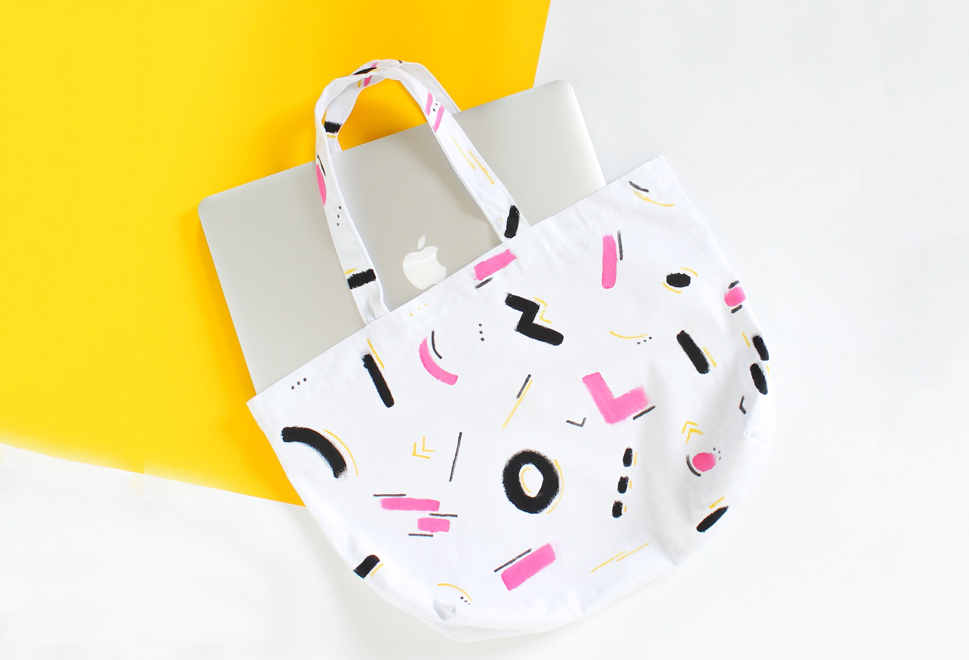 DIY peinture textile sur tote bag