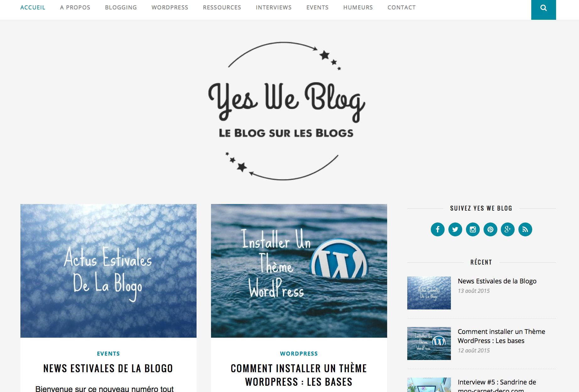 Yes we blog les astuces et sites pour améliorer son blog