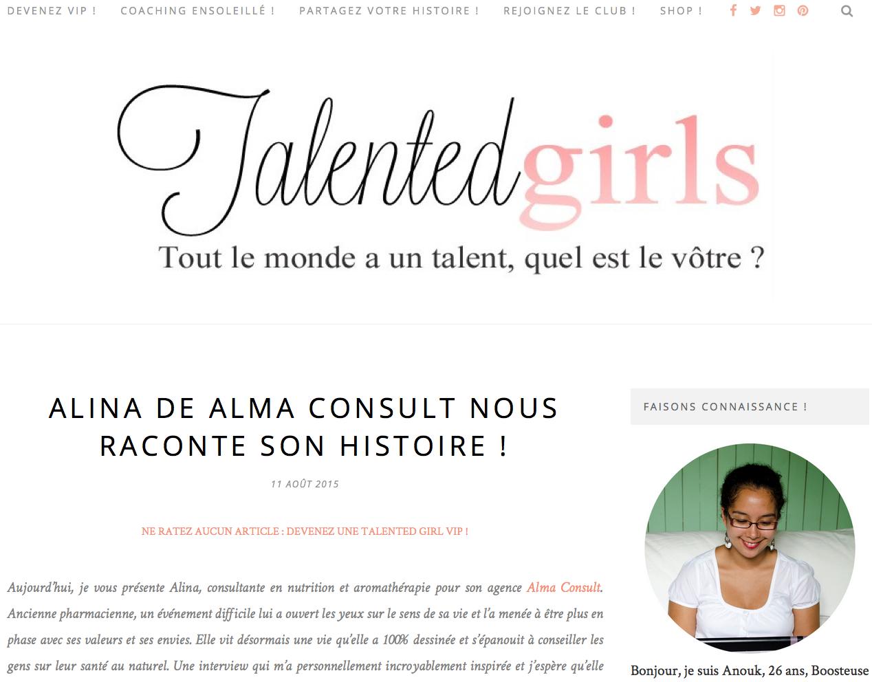 Talented girl le blog des fille qui se lancent en indépendant
