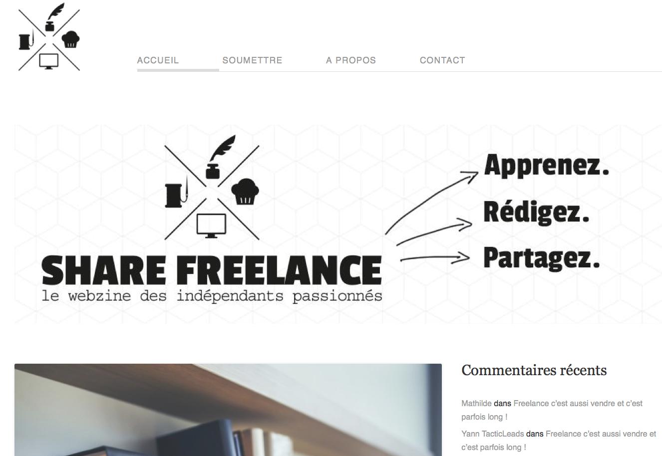 share freelance un blog communautaire qui encourage
