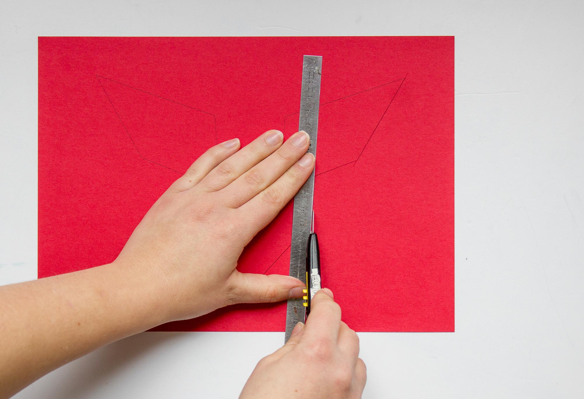 coupez carte de saint valentin diy