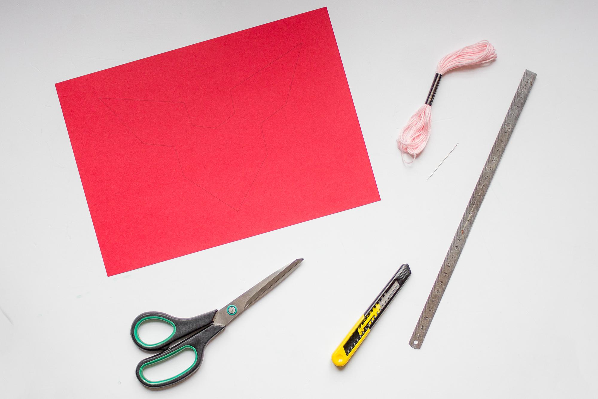 Matériel pour tuto carte de saint valentin brodée