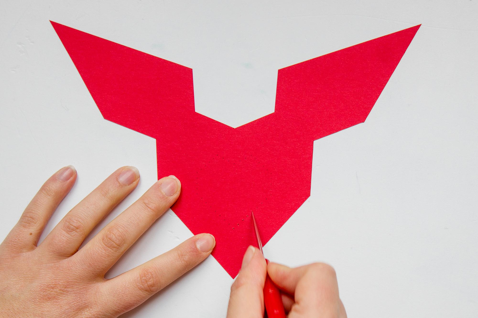 trouez avec un pointeur votre carte de saint valentin