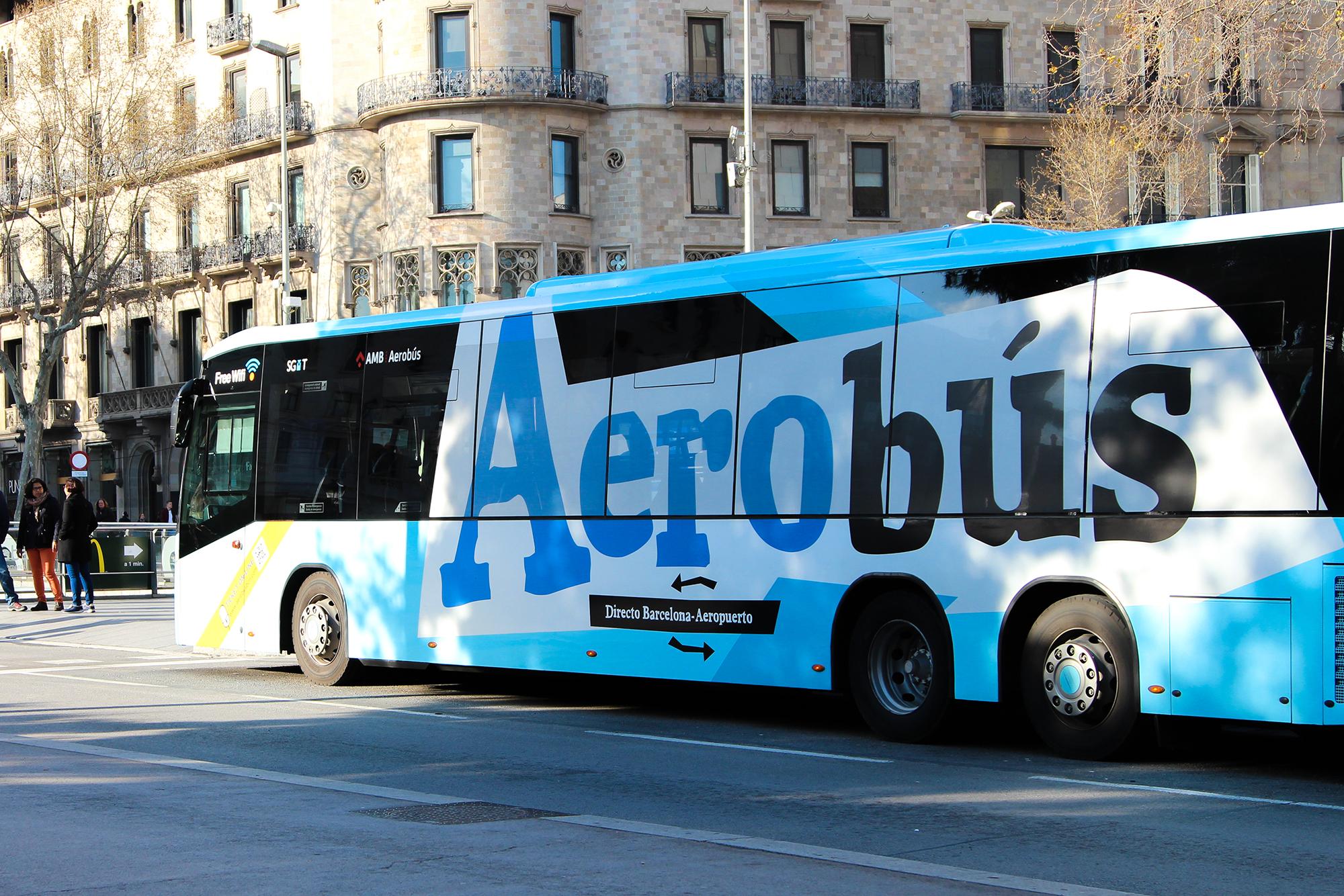 aerobus transport pour aller dans le centre de barcelone