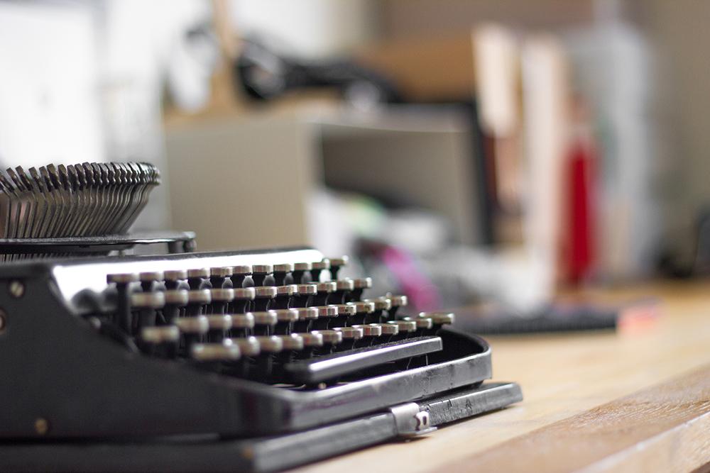 machine à écrire vintage - communication digitale