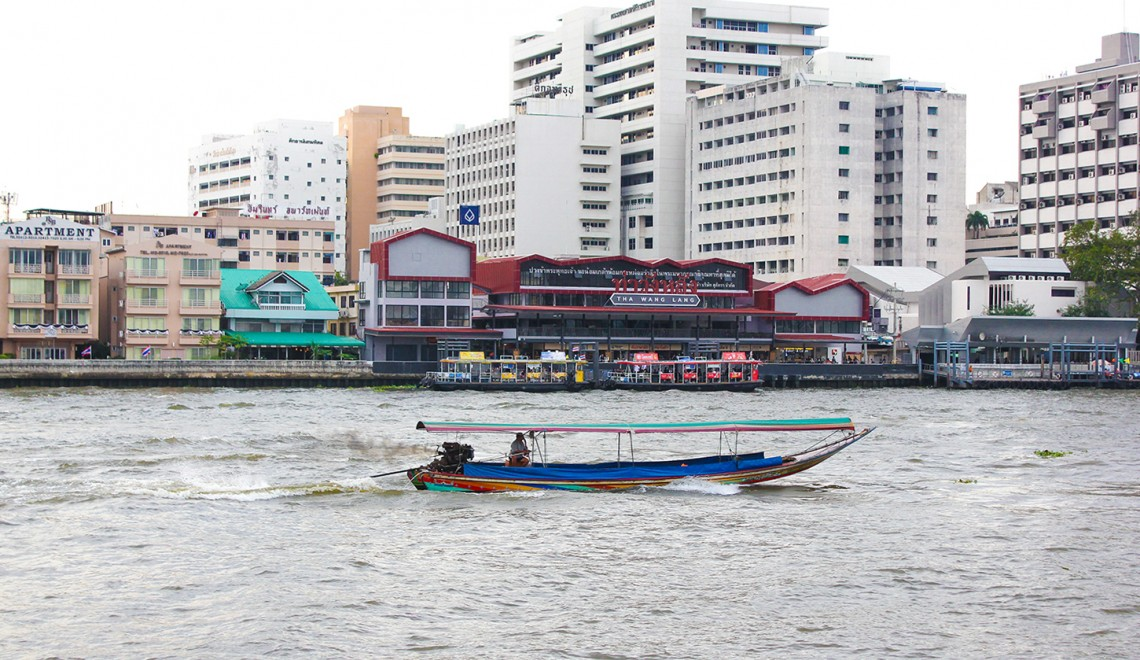 Fleuve Chao Praya à bangkok, thailande