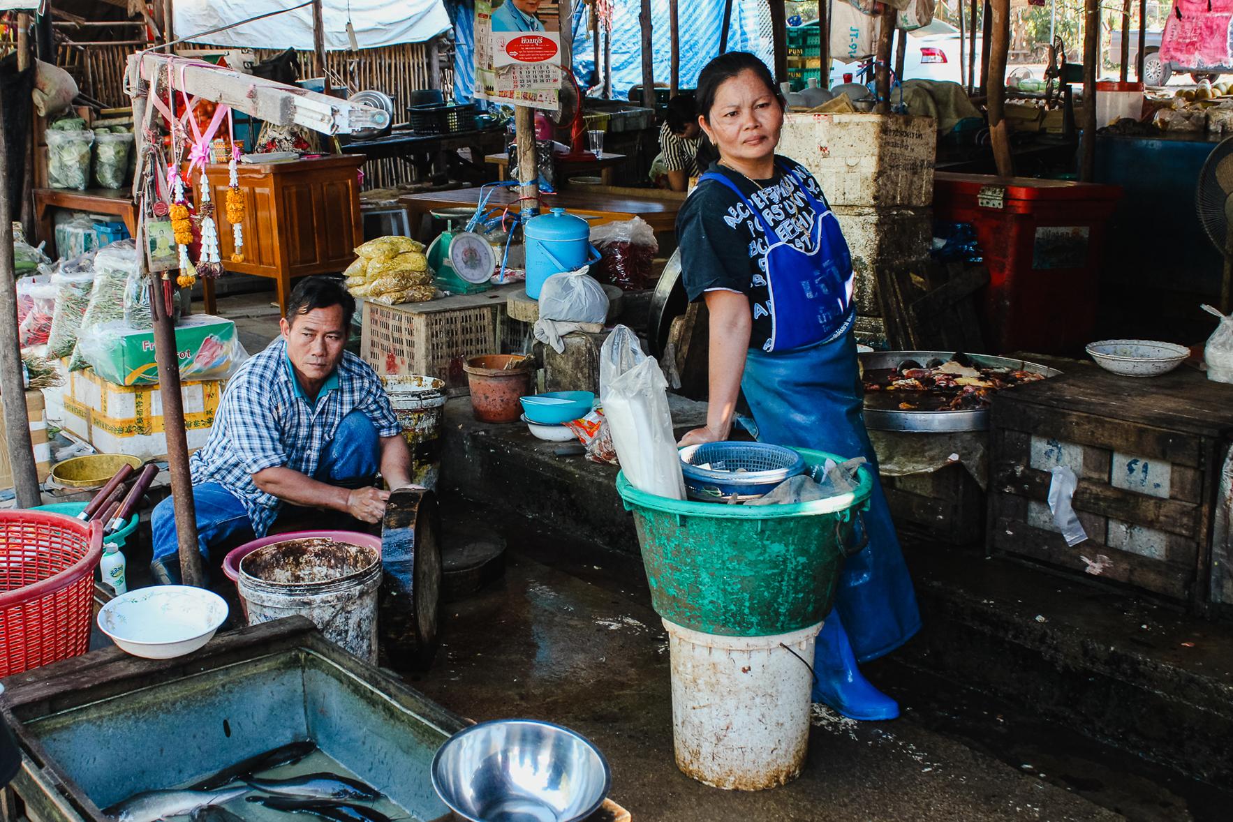 Marché de Sukhothai Thailande