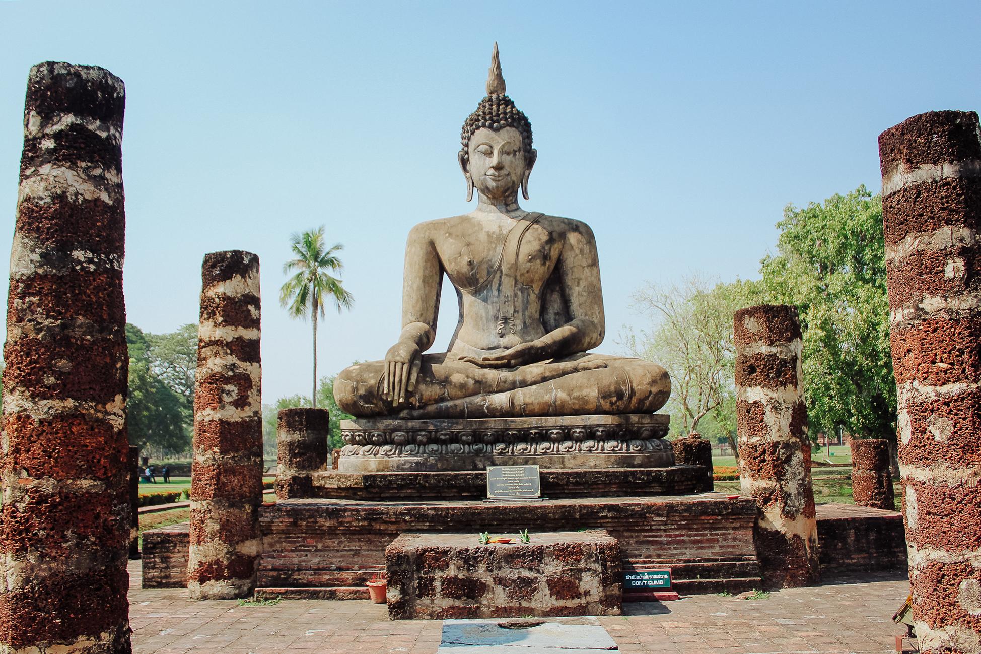 temple à sukhothai, en tailande , coup de coeur du pays