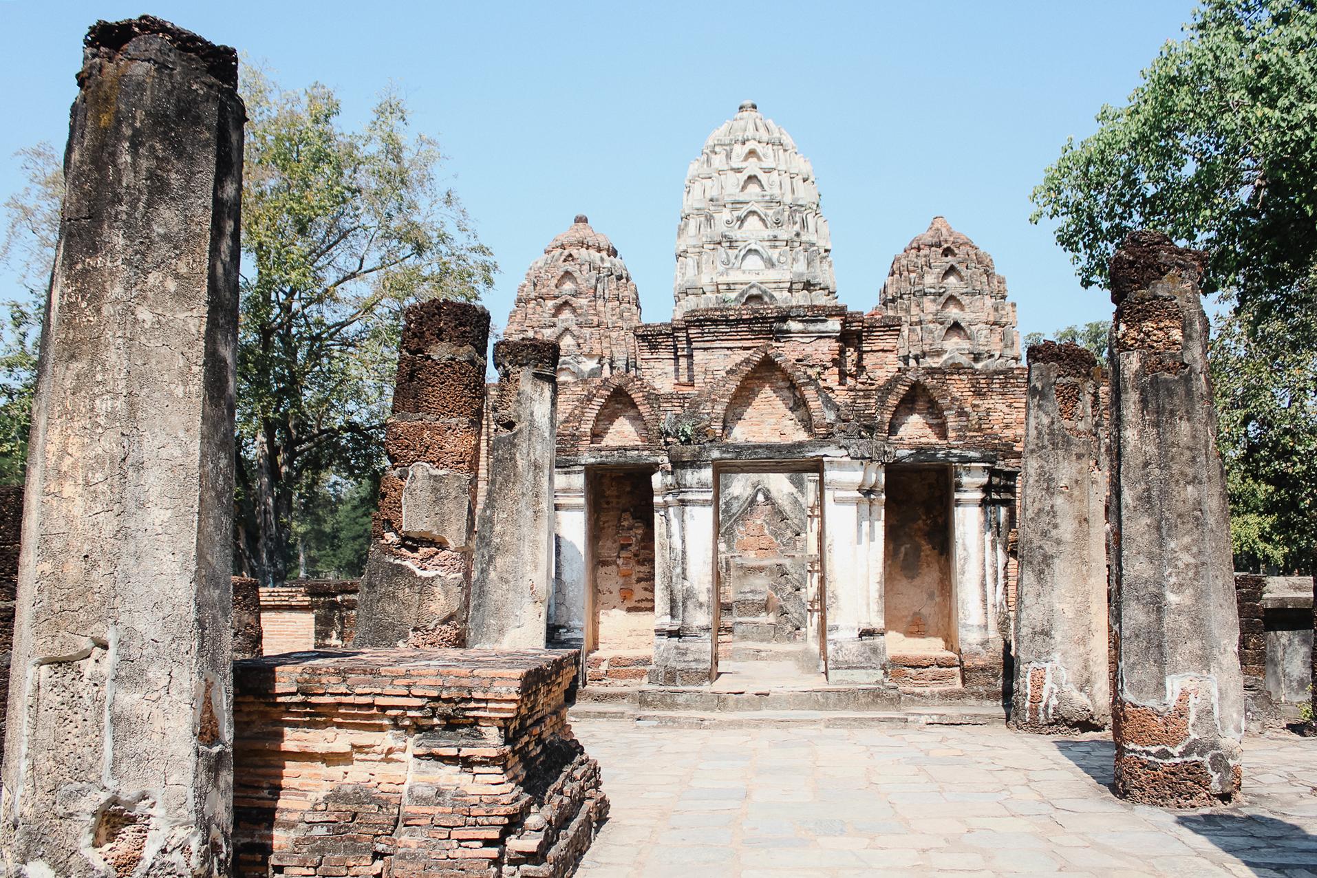 Visite de Sukhothai, temple, bouddha