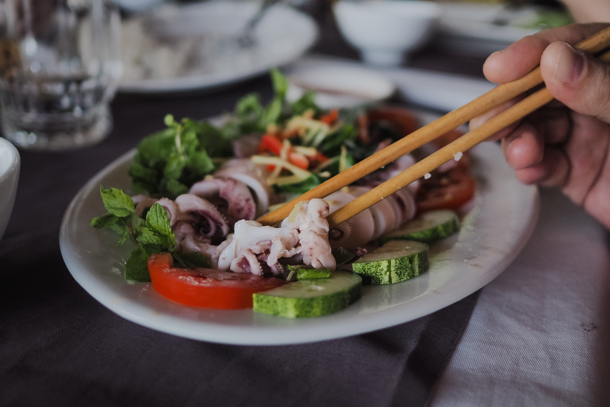 Calamar cuit à la vapeur - Hoi An - centre Vietnam