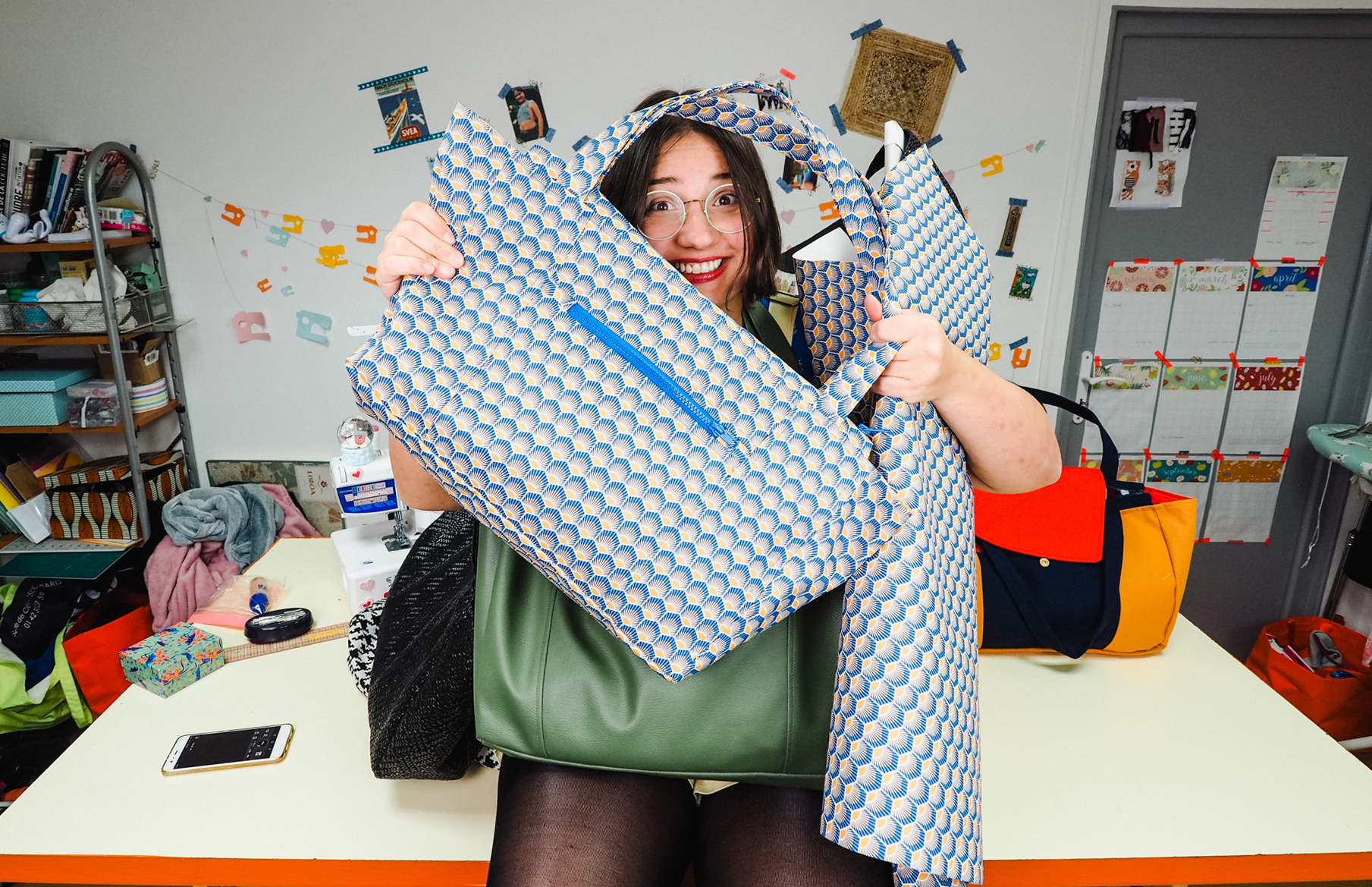 la vie d'entrepreneur : créatrice de patron de couture