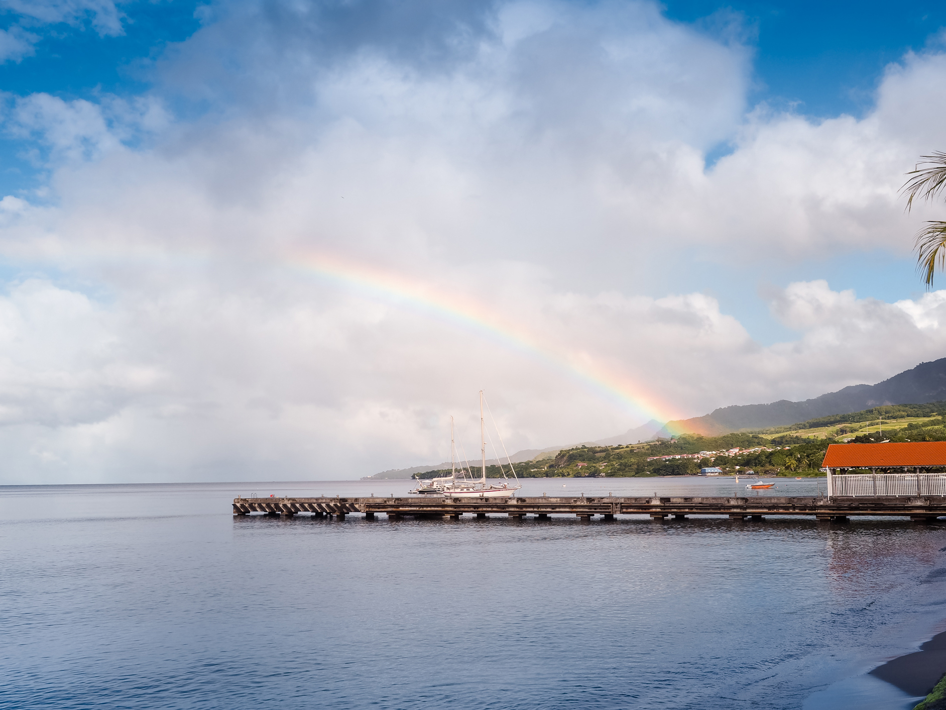 saint-pierre, arc en ciel martinique blog voyage