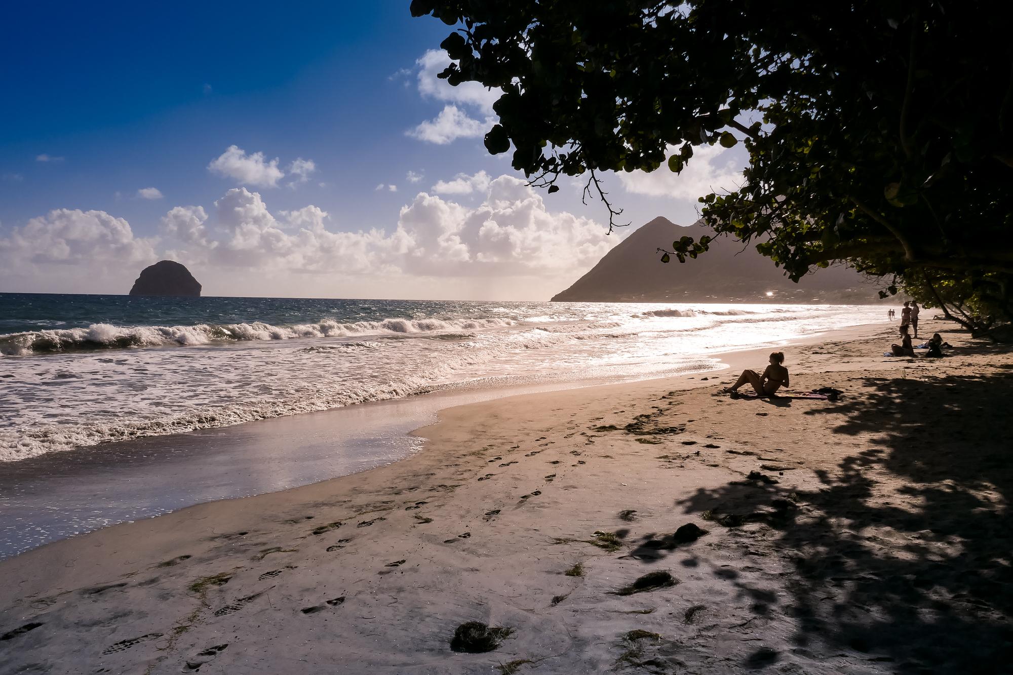 Plage du diamant, Martinique, blog voyage