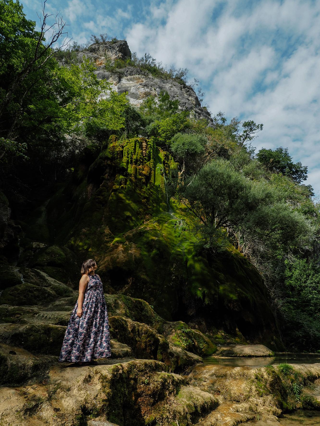 voyager dans la drôme et l'isère -cascade verte échevis blog voyage