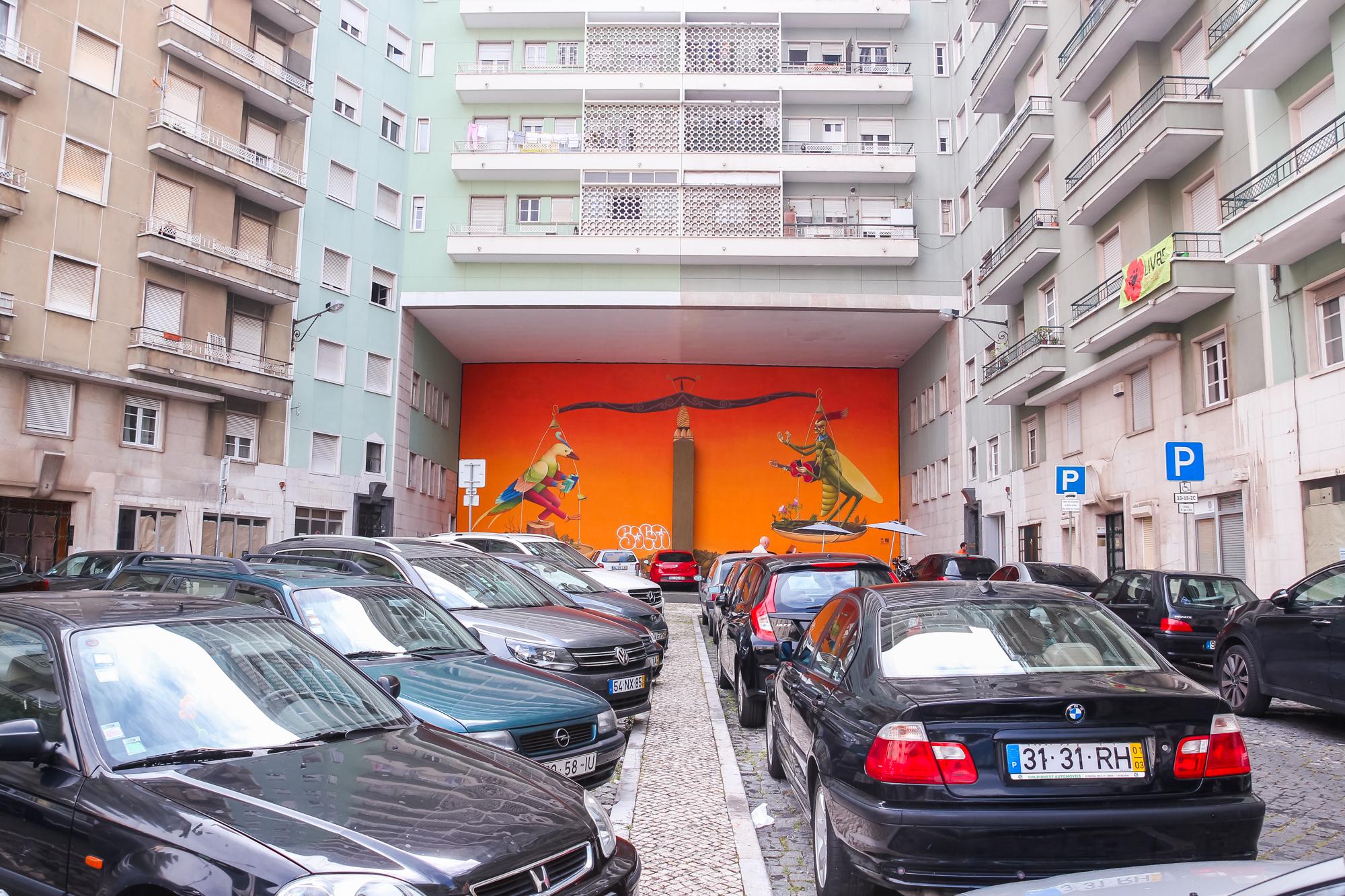 visiter Lisbonne : street art et Principe Real